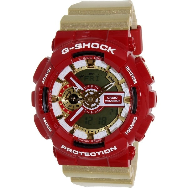 90c55e0151f Shop Casio Men s G-Shock Gold Resin Quartz Sport Watch - Free ...