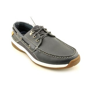 Sebago Helmsman Men  Moc Toe Leather Blue Boat Shoe