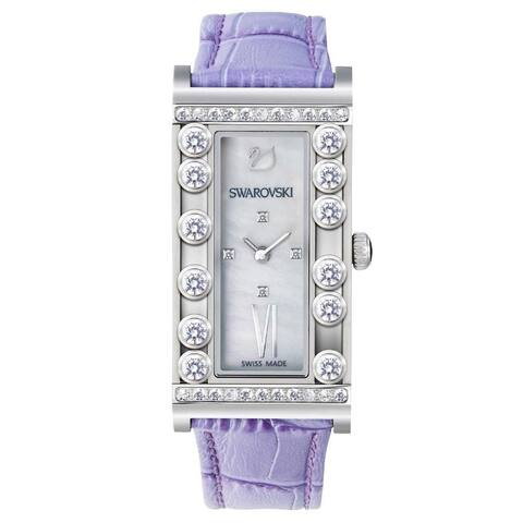 Swarovski Women's 5096684 'Lovely' Crystal Purple Leather Watch