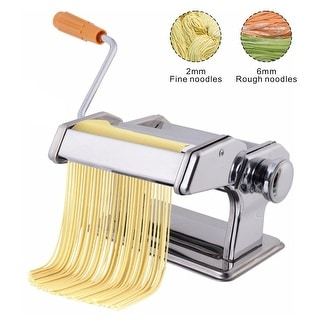 Costway Pasta Maker Roller Machine Fresh Noodle Spaghetti&Fettuccine Stainless Steel