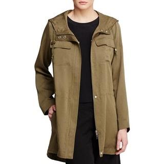 Eileen Fisher Womens Anorak Jacket Hooded Long Sleeves - xL