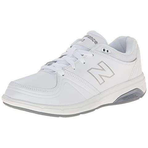 New Balance Womens 813 Walking Shoes Leather Comfort - White