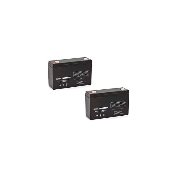 Replacement AGM SLA Battery 6V-10AH 2-Pack Replacement AGM SLA Battery