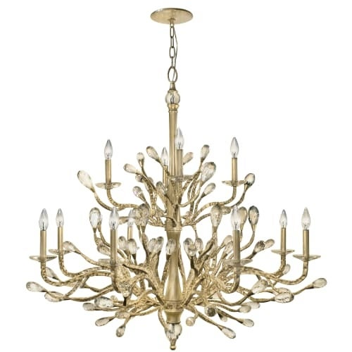 Fredrick Ramond Fr46810cpg 12 Light 2 Tier Candle Style Chandelier From The Eve Collection