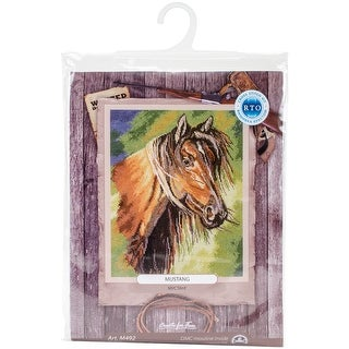"""Mustang Counted Cross Stitch Kit-9""""X11"""" 16 Count"""