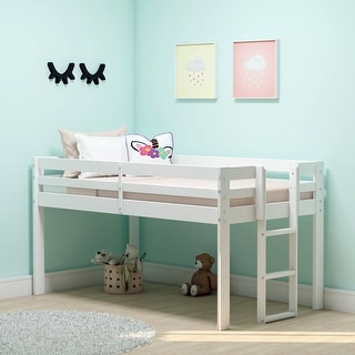 Link to Taylor & Olive Acropolis Wood Twin Junior Loft Bed Similar Items in Kids' & Toddler Furniture
