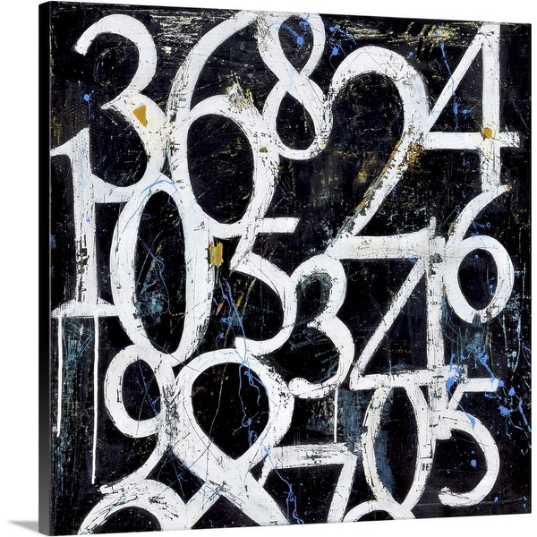 """""""Numbers"""" Canvas Wall Art"""