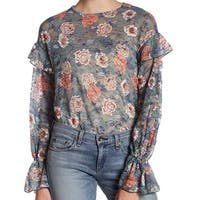 Melrose and Market Women's Small Floral Mesh Blouse