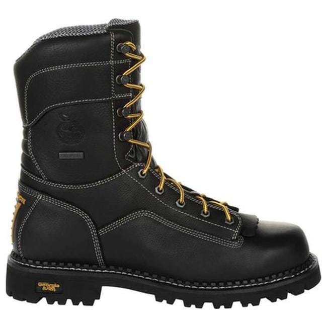Georgia Boot Mens Logger 8 Black Non Steel-Toe Work Boot
