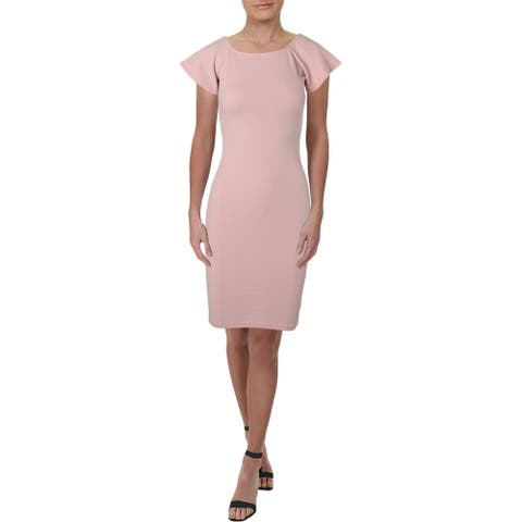 Necessary Objects Womens Cocktail Dress Daytime Knee-Length - Blush - XS