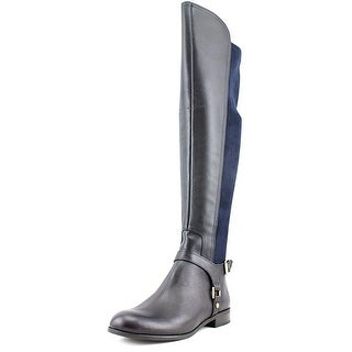 Franco Sarto Mast Round Toe Leather Over the Knee Boot