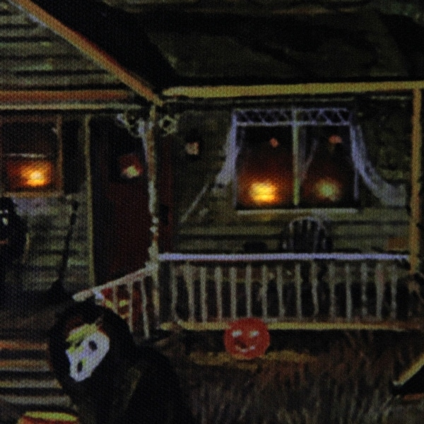 Ghosthouse with Halloween writing Halloween Wooden MDF Shape 10 items set
