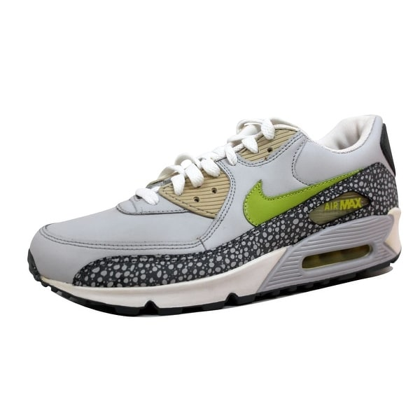 Nike Men's Air Max 90 Leather Neutral Grey/Bright Cactus-Flint Grey Cactus Pack 302519-031 Size 8.5
