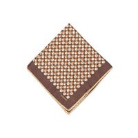 Tom Ford Mens Light Brown Double Circle Silk Pocket Square - One size