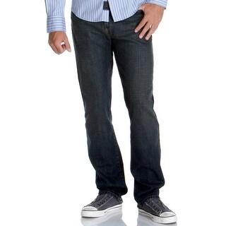 Calvin Klein Mens Relaxed Straight Jeans Dark Blue Sits Below Waist
