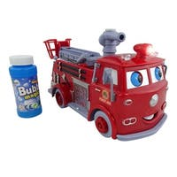 Envo Toys Red Fire Truck Blowing Bursting Hundreds Of Bubbles