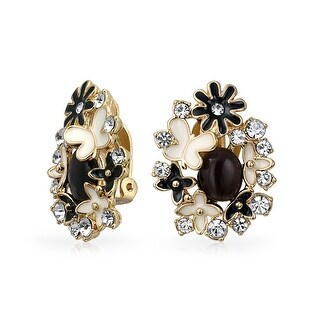 Bling Jewelry Gold Plated Brass Enamel Black Cats Eye Garden Clip On Earrings|https://ak1.ostkcdn.com/images/products/is/images/direct/a502e699fef850f4595477eec6551eb683bf589f/Bling-Jewelry-Gold-Plated-Brass-Enamel-Black-Cats-Eye-Garden-Clip-On-Earrings.jpg?_ostk_perf_=percv&impolicy=medium