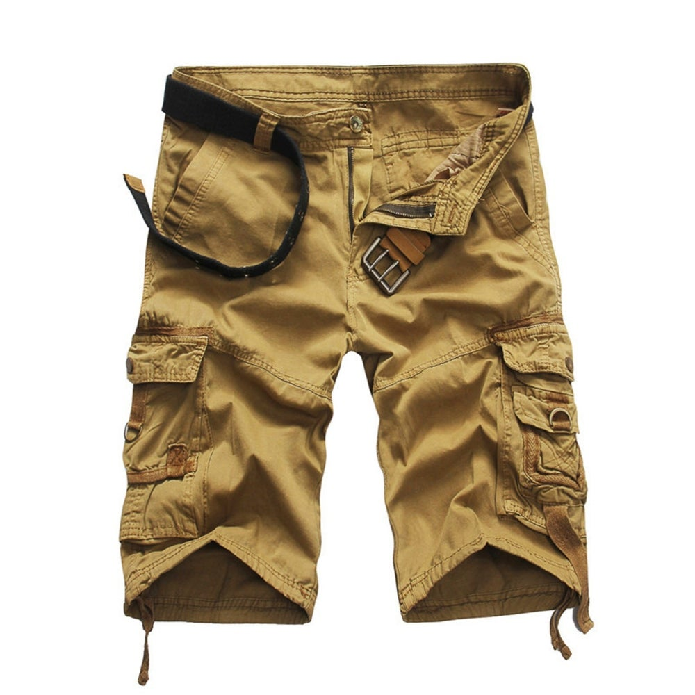 ASLIMAN Mens Cargo Shorts Loose Casual Outdoor Short Pants with Pockets