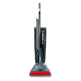 Sanitaire SC679J Commercial Upright Vacuum Cleaner with Reusable Cloth Bag - Black