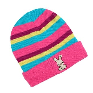 CTM® Infant Knit Striped Cuff Cap - One size