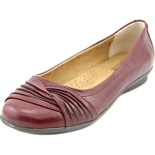 White Mountain Hilt Women Round Toe Synthetic Burgundy Flats
