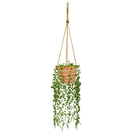 Beautiful String of Pearls In Cottage Container