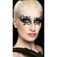Black Widow Eye Mask, Black Web Mask - One Size Fits Most