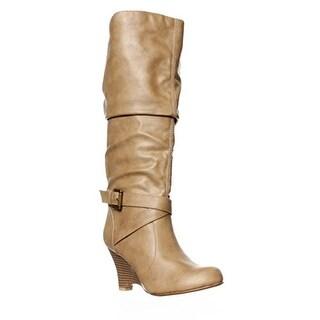 S.C. Niftee Knee-High Boots - Taupe