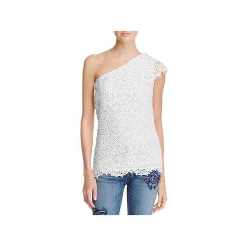 Velvet Womens Adalaide Pullover Top Lace One Shoulder