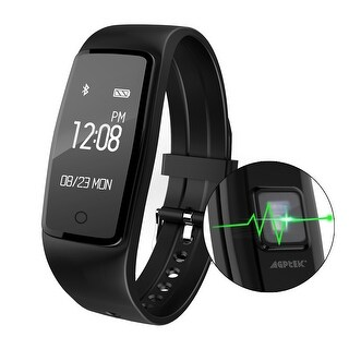 AGPtek Heart Rate Fitness Tracker Watch, IP67 Waterproof Touch Screen Smart Pedometer for Android and IOS Smart Phones