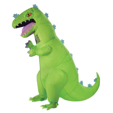 Adult Rugrats Inflatable Reptar Dinosaur Costume - Standard