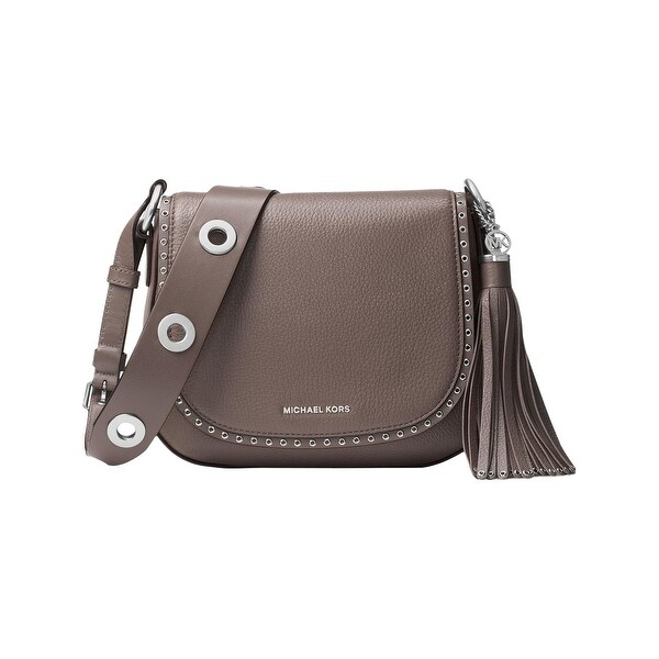 e3272229080898 MICHAEL Michael Kors Womens Brooklyn Saddle Handbag Leather Grommet - small