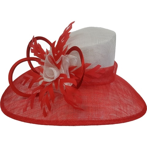 Two Tone designer couture Derby or Easter Sinamay Straw hat