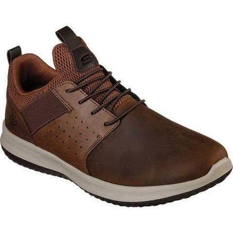 Skechers Men's Delson Axton Sneaker Dark Brown