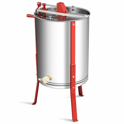 Gymax 4 Frame Honey Extractor Manual Beekeeping Equipment Stainless