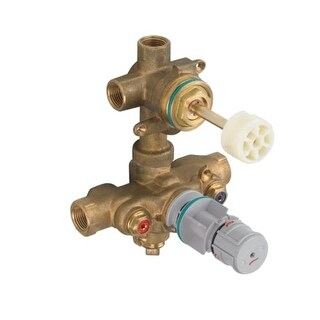 American Standard R522S Universal Thermostatic Mixing Rough-In Valve with Integrated Service Stops and Diverter