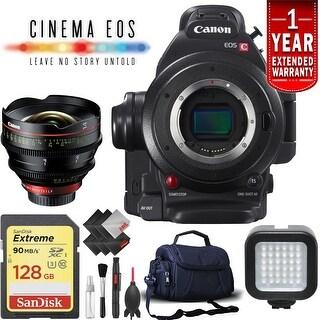 Canon EOS C100 Mark II Cinema Camera (Intl Model) w/ 14mm Lens Kit