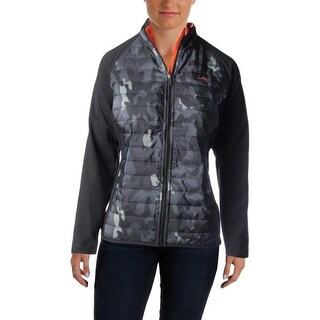 L-RL Lauren Active Womens Jacket Quilted Panel Camouflage