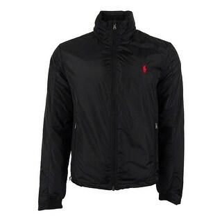 Polo Ralph Lauren Men's Solid Nylon Jacket (M, Polo Black) - M