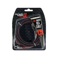Cerwin Vega Stroker Series 2-channel RCA cable 6ft dual twisted metal ends