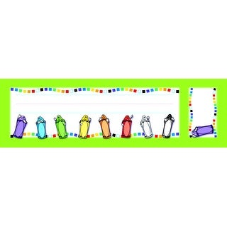 North Star Teacher Resources Crayon Seat and Cubby Sign, 3 X 2 in Cubby Sign, 9 X 3 in Seat Sign, Pack of 72