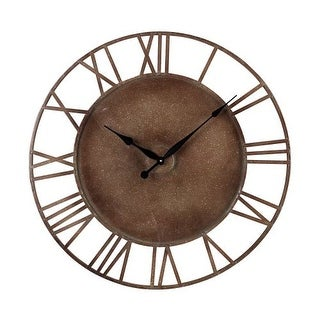 """Sterling Industries 128-1002 31.5"""" Height Metal Roman Numeral Outdoor Wall Clock with Parity Bronze Finish"""