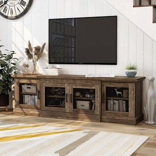 Link to Jacinto Rustic Reclaimed Oak TV Stand Similar Items in Media Cabinets