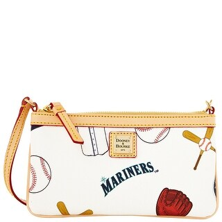 Dooney & Bourke MLB Mariners Large Slim Wristlet (Introduced by Dooney & Bourke at $88 in Feb 2014) - White