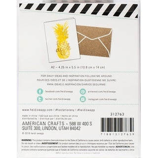 Heidi Swapp A2 Cards 4/Pkg-If You Were A Fruit, You'd Be Fin - if you were a fruit, you'd be fine apple