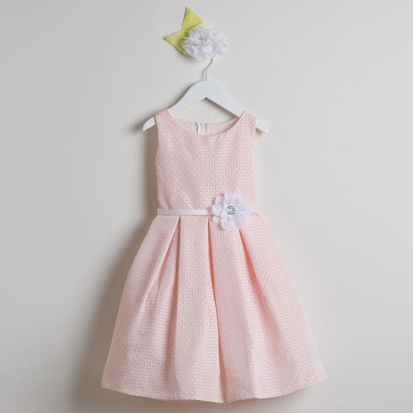 fb05436bacecb Shop Sweet Kids Little Girls Light Pink Flower Special Occasion Easter  Dress 2-6 - Free Shipping Today - Overstock - 18163526