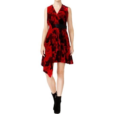 Rachel Rachel Roy Womens Cocktail Dress Velvet Draped