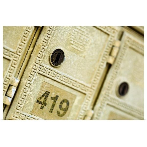 """Close-up of post box"" Poster Print"
