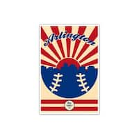 Texas - Vintage MLB - 24x36 Gallery Wrapped Canvas Wall Art