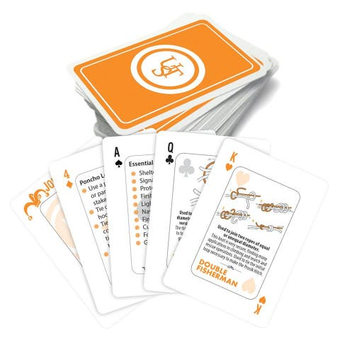 UST 20-02700-08 Survival Tips Playing Cards with Knot Tips